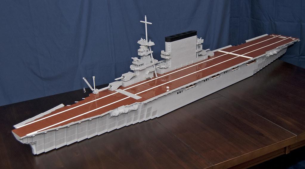 lego aircraft carrier uss lexington cv 2 a lego model o flickr