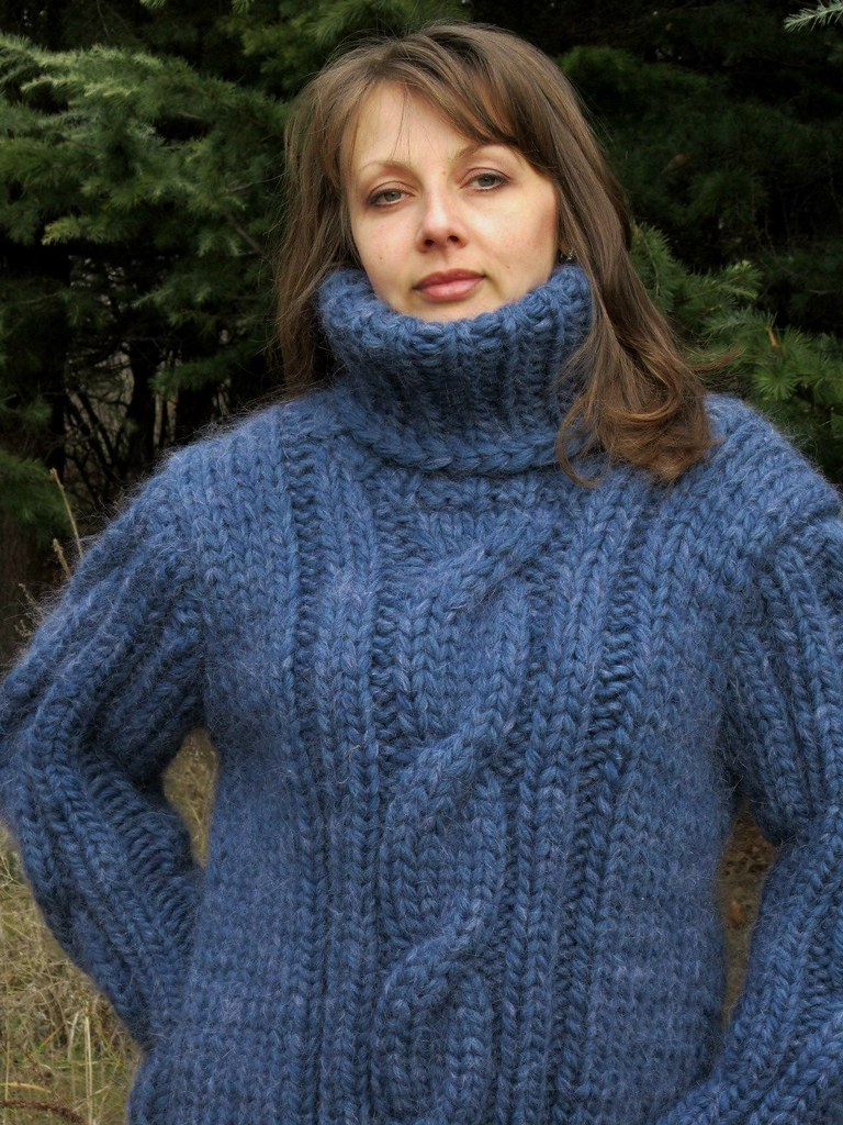Unique Heavy cabled turtleneck sweater | Mytwist | Flickr RY42