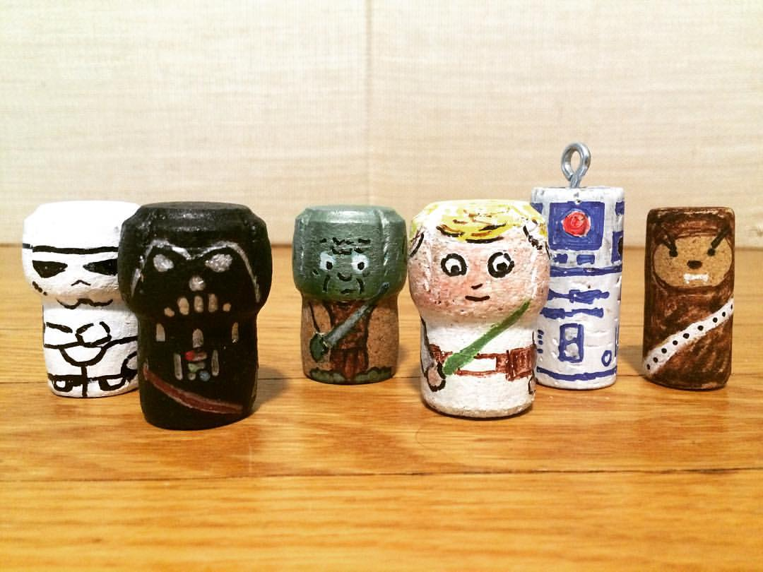 My 4yo has been humming the Imperial March. He REALLY wants #darthvader I think I might be ready to move on from #starwars #stormtrooper #yoda #lukeskywalker #r2d2 #corkkeychain #partyfavors