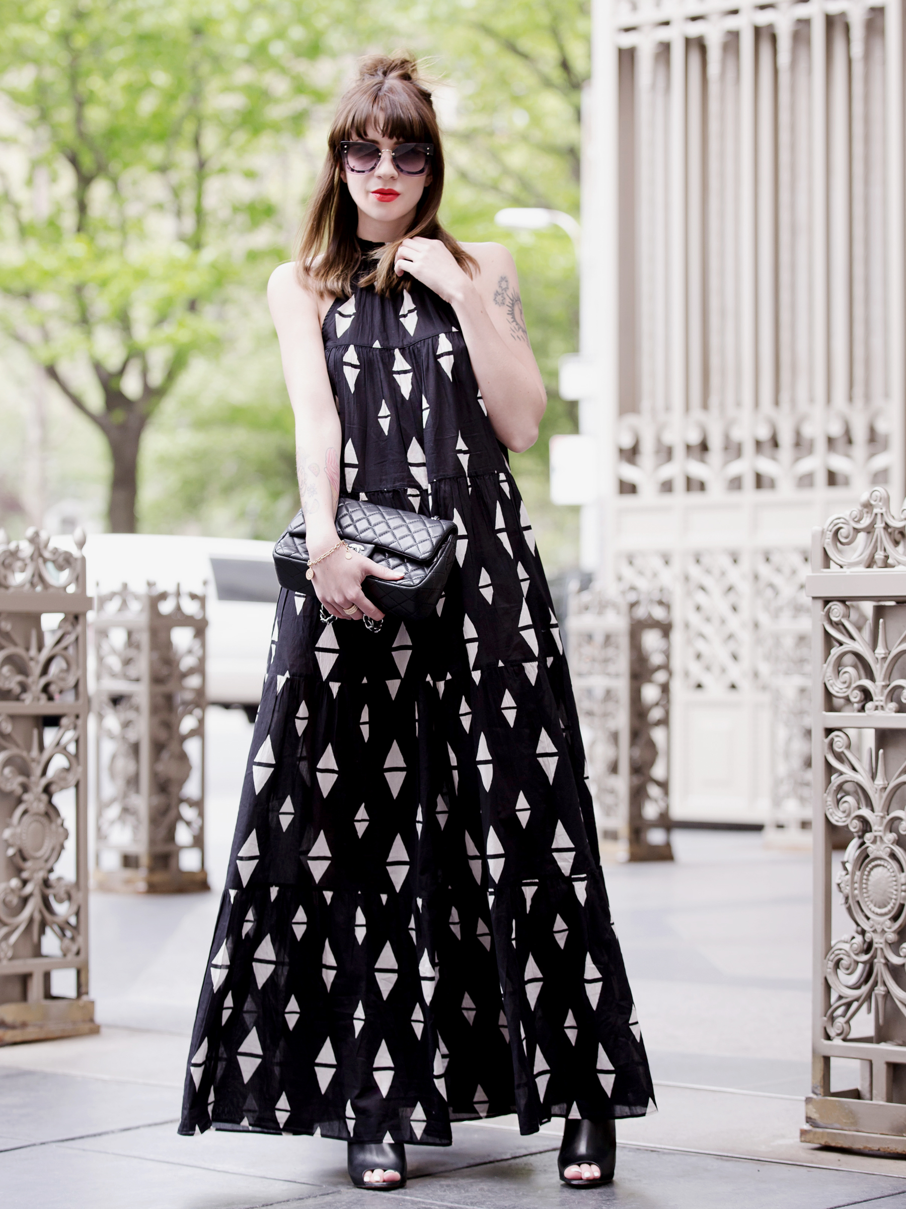 h&m maxi dress miu miu sunglasses chanel 2.55 double flap bag sacha heels ootd outfit styling fashionblogger modeblogger germany ricarda schernus cats & dogs styleblog 6