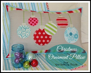 Christmas Ornament Pillow | by TheSewingChick