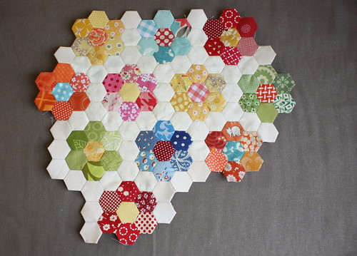 mini-hexagon-quilt-flowers | by amy smart