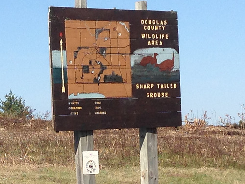 Douglas County Wildlife Area sign