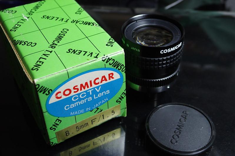 COSMICAR CCTV Camera Lens 8.5mmF1.5