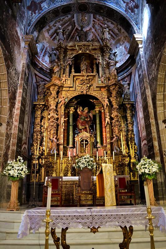 Interios barroco de San Miguel Arcangel
