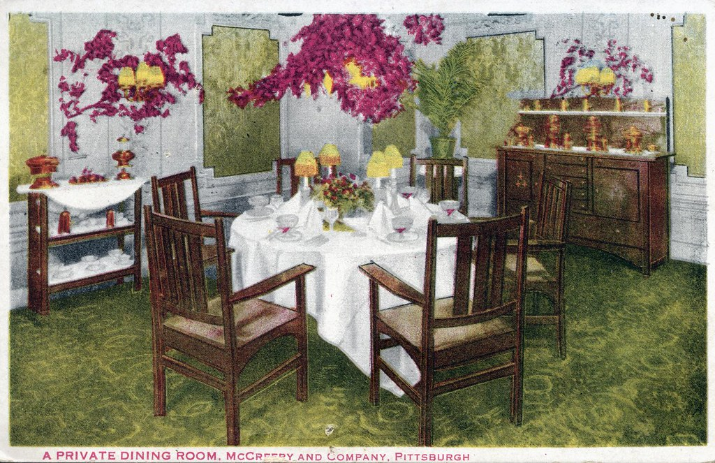 ... Private Dining Room McCreery And Company Department Store Pittsburgh PA  | By Edge And Corner Wear
