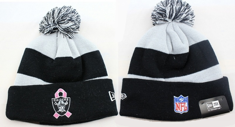 ... Raiders Beanies with Pom Winter Knit Caps NFL Hats Oakland New Era BCA CRUCIAL  CATCH  98a5f571e5d