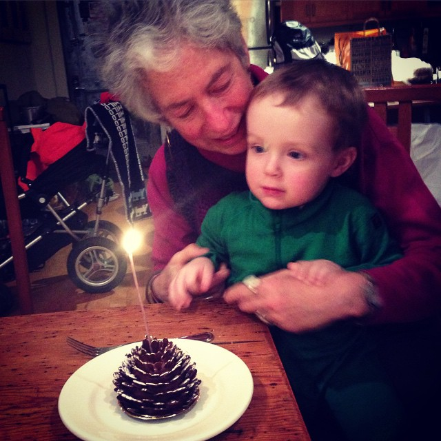Milo helps Grandma blow out her birthday cake Ethan Hein Flickr