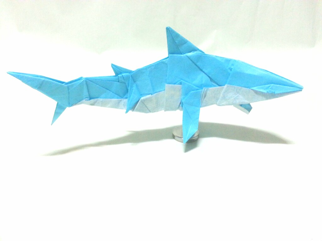 Origami Shark 45x45cm Paper Created By Choi Ju Youngyeong Flickr