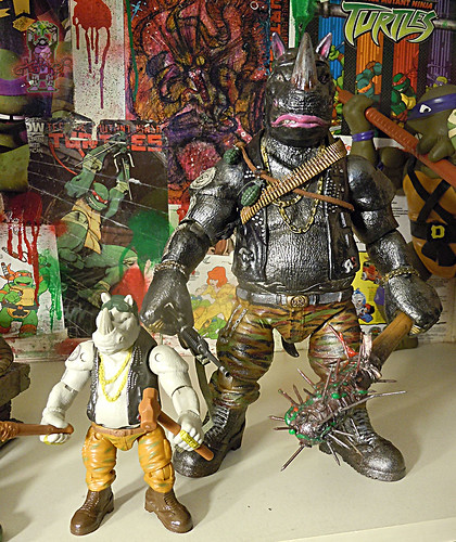 tOkKustom :: NEW CLASSIC 'FOOT' Trio :: ROCKSTEADY ix / ..with standard TMNT:OOTS Movie Rocksteady '16
