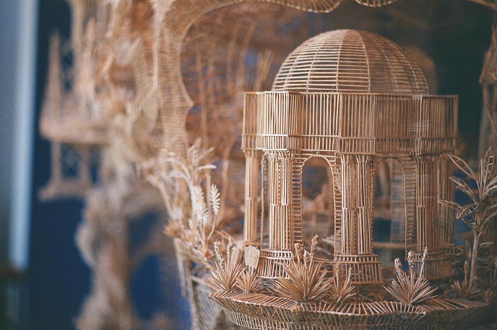 Toothpick Sculpture exploratorium toothpick sculpture | made of hundreds of thou… | flickr