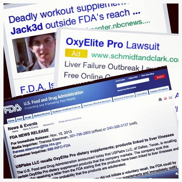 FDA Press Release nov 11, 2013, new Oxyelite links to live