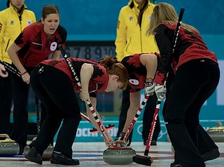 Sochi Ru.Feb17-2014.Winter Olympic Games.Team Canada,skip Jennifer Jones,third Kaitlyn Lawes,lead Dawn mcEwen,second Jill Officer.WCF/michael burns photo | by seasonofchampions
