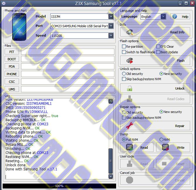 i337 unlock s4 version 4 3 z3x | Data & Electronics