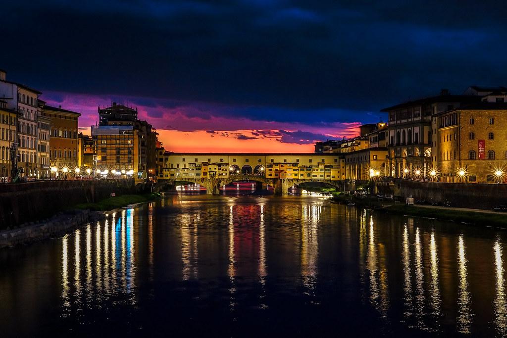 Ponte Vecchio una sera di luglio