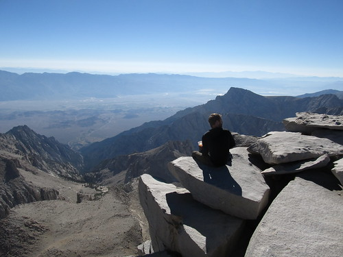 Satisfied Hiker Enjoying Breathtaking Views, Mount Whitney Summit, 14,505 Feet, California | by Ken Lund