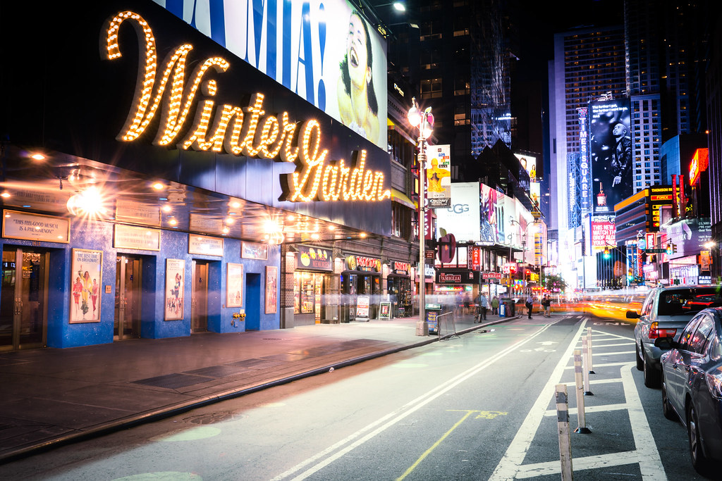 winter garden theatre and times square night new york city by vivienne gucwa - Winter Garden Theater Nyc