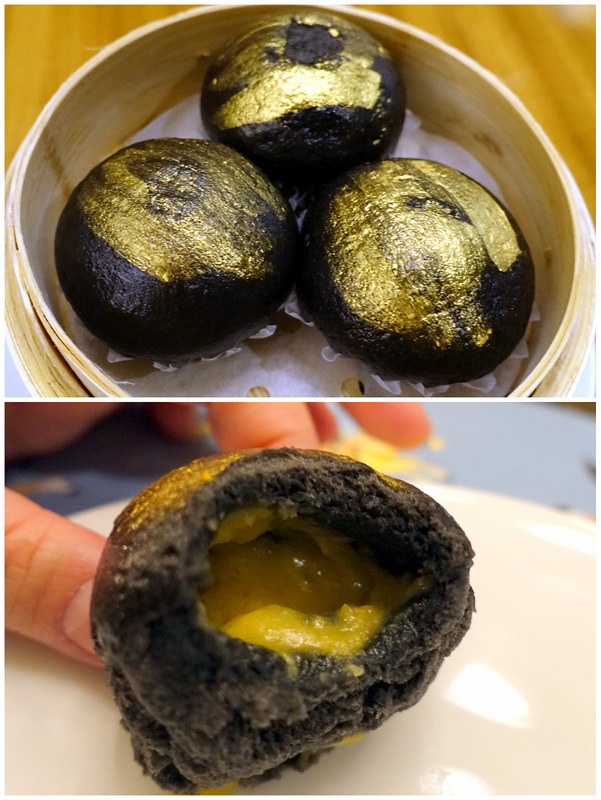 Conrad Manila's China Blue by Jereme Leung- Black Gold Egg Custard Buns P240