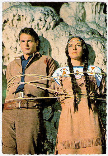 Mario Girotti and Karin Dor in Winnetou II. Teil (1964)