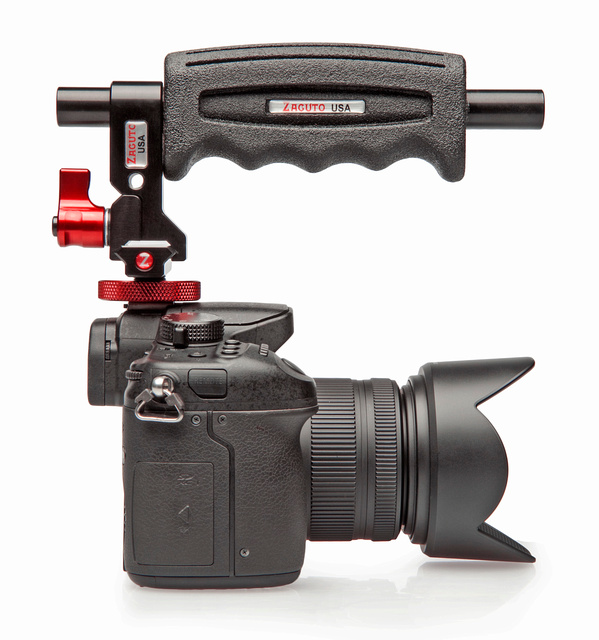 Zacuto Top Handle with Z-Rail and Cold Shoe Mount for Z-Rail Dovetail