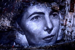 Simone De Beauvoir, painted portrait | by Abode of Chaos