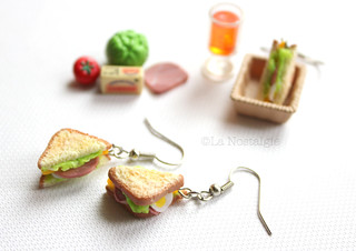 Miniature Sandwich Earrings | by www.lanostalgiejewelry.com