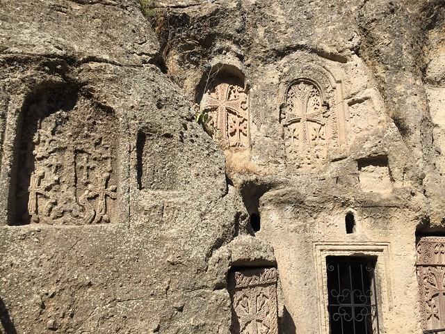 Geghard monastery walls