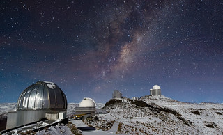 Milky Way Shines over Snowy La Silla | by European Southern Observatory