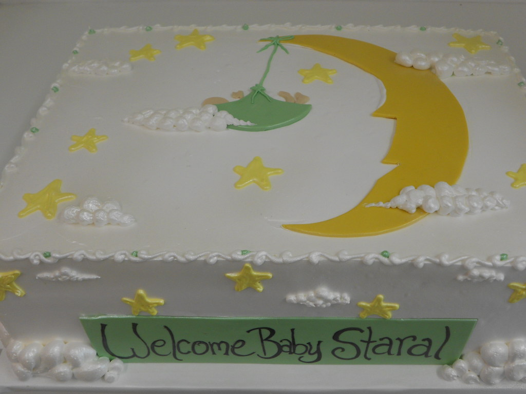 Moon And Stars Baby Shower Sheet Cake 1992 Asweetdes Flickr