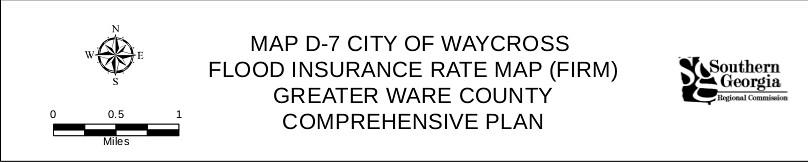 city map of waycross ga