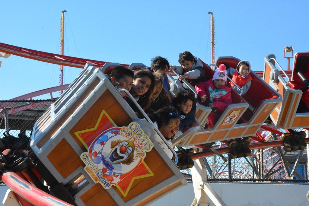 halloween fun on the circus coaster at luna park by luna park coney island