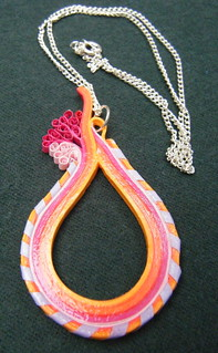 Quilling strip pendant with 'bandaged' border | by Philippa Reid