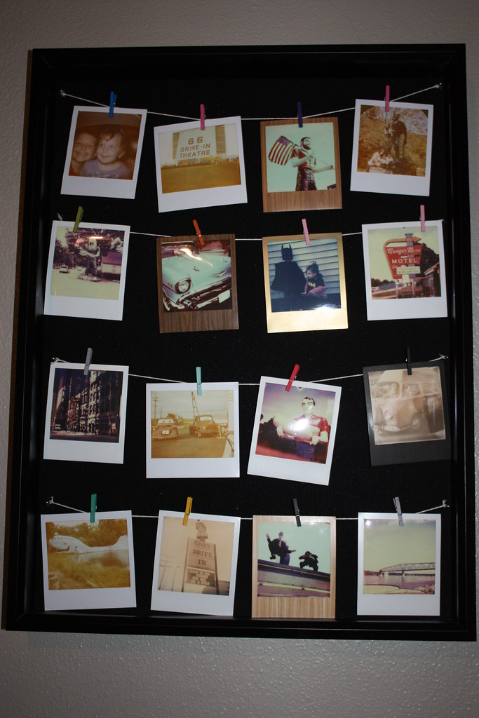 Shadow box Polaroid frame | I took a shadow box frame and re… | Flickr