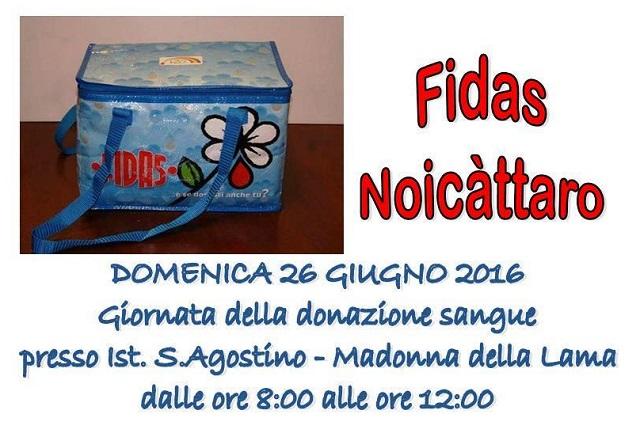 Noicattaro. Donazione Fidas Giugno 2016