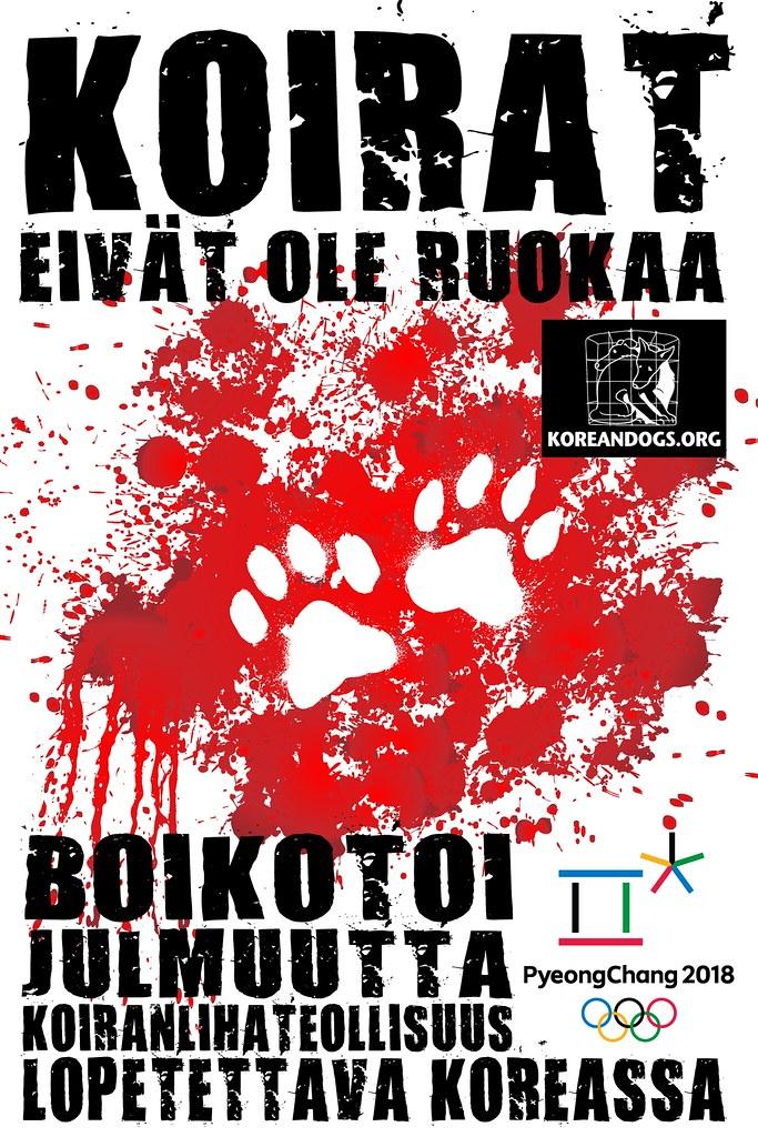 Boycott Pyeongchang 2018 (Finnish)