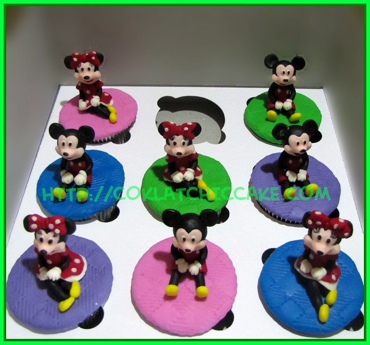 Cupcake Mickey dan Minnie