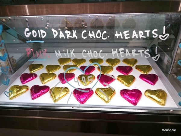 chocolate hearts at Sweet Olenka's