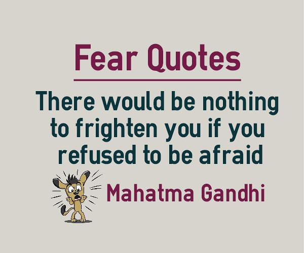 Image result for quote fear