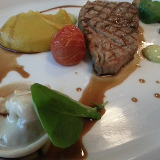 4th course: veal with root vegetable puree and beer sauce | by ...