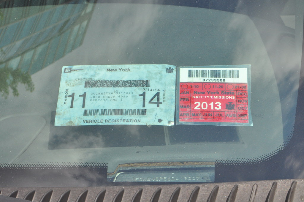 ... Prop New York Registration & Inspection Stickers | by Triborough