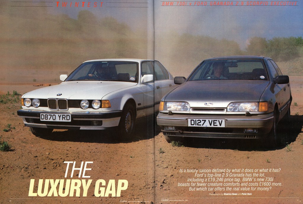 Bmw Road >> BMW 730i & Ford Granada Scorpio 2.9 Executive Twin Road