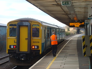 Class 150 DMU at Port Talbot Parkway station
