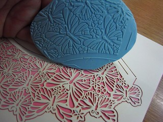 Things to do with a cupcake wrap (a brief series!)    No. 1  Texture Stamp | by therobinandthetiger