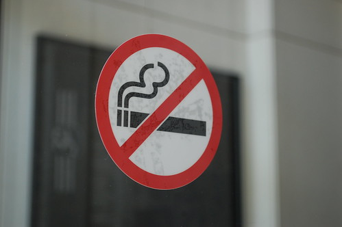 No smoking decal | by SmartSignBrooklyn