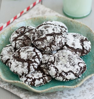 Triple-Chocolate Crinkle Cookies | by Tracey's Culinary Adventures