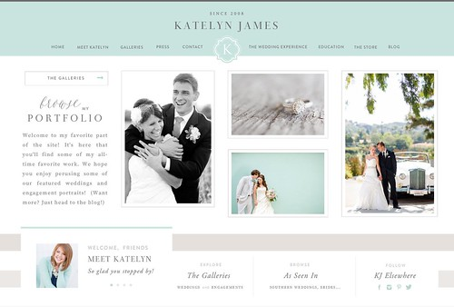 Katelyn James | Brand, Logo, mark, Website & Blog design | by jennifer olmstead
