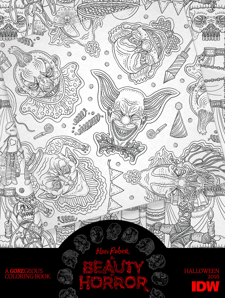 The Beauty Of Horror Coloring Book Evil Clowns By Alan R Flickr