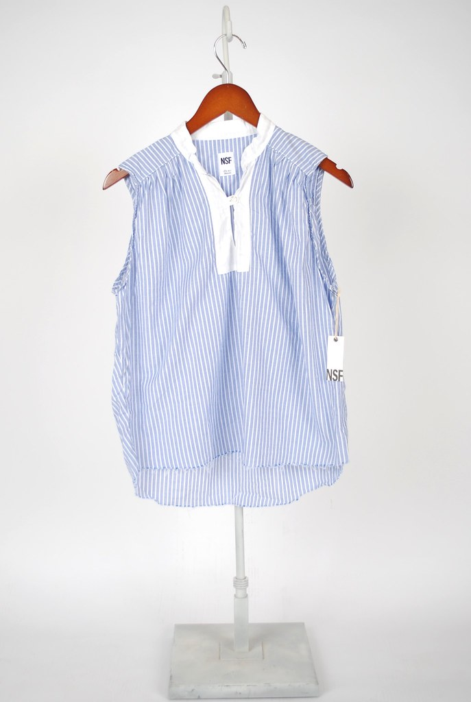 Conor Stripe Sleeveless Blouse
