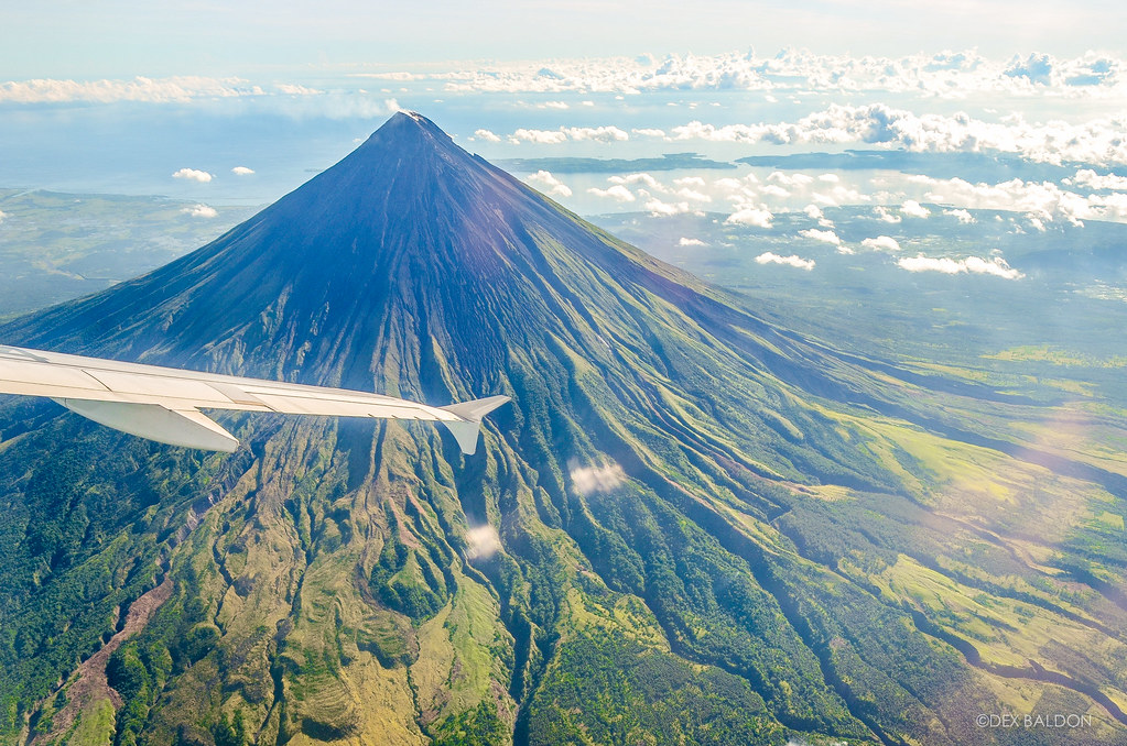 Mayon Volcano view from the air