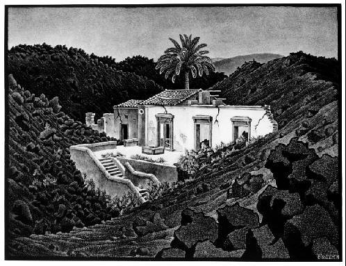 M C  Escher House in the Lava near Nunziata Sicily 1936 | by rahowa27